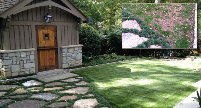 home lawn turf before and after XGrass installation
